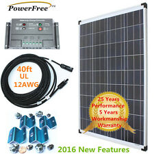 Complete Kit 100w 100 Watt Poly Solar Panel Charger for 12v Battery Rv Boat eGsp