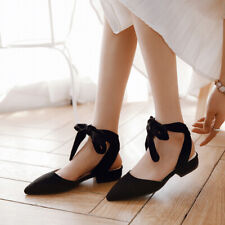 Ankle Strappy Womens Flats Shoes Mules Flat-heels pointed comfort shoes student