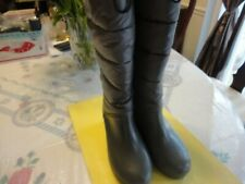 SPERRY Women Round Toe Knee High Platform Waterproof  Rubber Boots Shoes Size -8