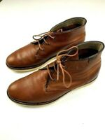 LACOSTE Mens Leather Chukka Boots Size 10 US Brown