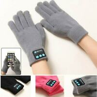 Bluetooth Talking Gloves Touch Screen V3.0 Call Headset Speaker For Smartphone