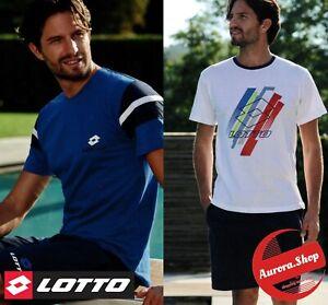 tuta LOTTO completo mare estivo Manica Corta UOMO 100% cotone t-shirt PIGIAMA