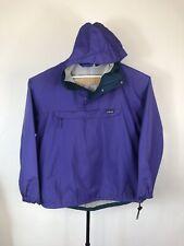 VTG Patagonia Men L Snap T Rain Jacket Hooded Pullover Anorak Purple Windbreaker