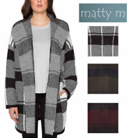 NEW Matty M Women's Hooded Open Front Cardigan Sweater - VARIETY