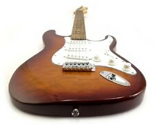 NEW CUSTOM ELECTRIC GUITAR WITH BROWN EXOTIC WOODS  RH