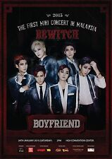 "BOYFRIEND ""BEWITCH 2015 TOUR"" MALAYSIA CONCERT TOUR POSTER"