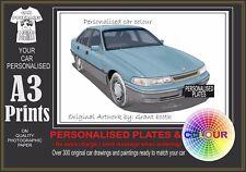 92-93 VP CALAIS SEDAN A3 ORIGINAL PERSONALISED PRINT POSTER CLASSIC RETRO CAR