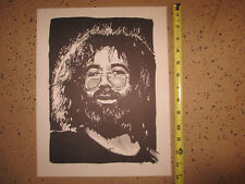 JERRY GARCIA 1977 Pen and Ink Print; Vintage Quality Rare Print; New Old Stock
