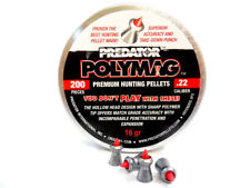 Predator Polymag Premium Hunting Pellets | .22 cal, 16gr, Pointed, 200ct