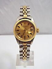 Rolex 14K Yellow Gold Stainless Steel Ladies Date Watch, Circa 1973