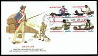 US 1717-20 Skilled Hands July 4, 1977 block of 4 Fleetwood FDC F1720a-1