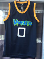 Monstars 0 Space Jam Tune Squad deep blue Sewn Basketball Jersey-4dayship