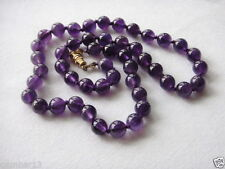 Handmade Amethyst Round Costume Necklaces & Pendants
