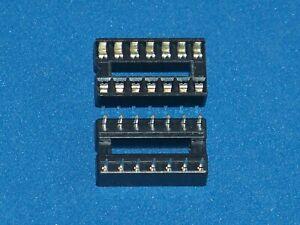 Ic-Socket / Ic Sockets, 14-polig, Doppelfederkontakt, Amount Nach Request