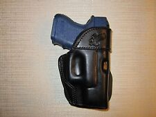 GLOCK 26 & 27 & 33 PADDLE HOLSTER,  formed leather,owb belt holster