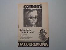 advertising Pubblicità 1975 BAMBOLA CORINNE ITALOCREMONA