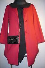 Cappotto Sisley tg.42.Rosso,collo velluto.