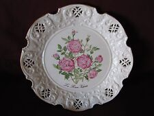 Queen Victoria Rose Plate by Crown Davenport, Signed & Numbered C2075 England
