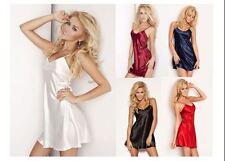 Womens Ladies Sexy Satin Nightwear Sleepwear Lingerie Nightdress Chemise Holiday