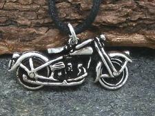 Motorrad Oldtimer 925 Silber Anhänger Bike Biker 3D mit Band