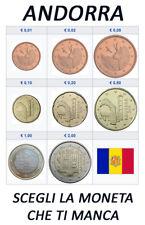 1 CENT - 2 EURO ANDORRA ANNI VARI - FDC UNC