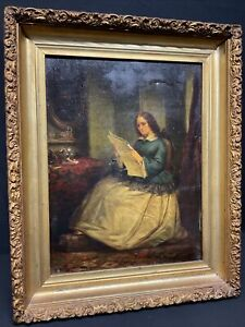 JAMES H. CAFFERTY Highly Listed American Artist Oil on Canvas 1858 New York RARE