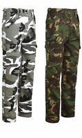 Cargo Combat Workwear Work Trousers Army Military Camo Camouflage Bottoms