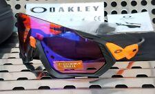 New Oakley FLIGHT JACKET Sunglasses 9401-0437 Neon Orange w/ Prizm Trail
