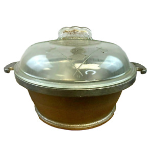 GUARDIAN SERVICE WARE Aluminum 2.5QT Pot W/ GLASS LID Vintage Made in USA