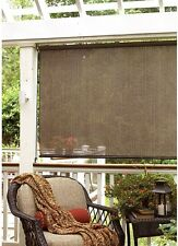Baja Cocoa Outdoor Shade 60 in x 72 in Roll Up Window Blind Porch Gazebo Outdoor