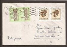 """Hungary 1992 cover. """"Szeged"""" franking posted to Brussels"""