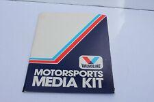 VALVOLINE RACING 1984 NASCAR  RACING  MEDIA GUIDEBAKER,BONNETT,DW,PETTY,AJ FOYT