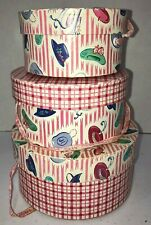 Muffy Vanderbear 3 Nesting Hat Boxes Vintage