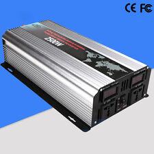 DC12V to AC220V 2500W Pure Sine Wave Power Inverter Converter LED Display