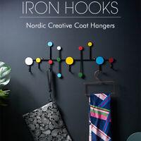 Wall Mount Nordic Coat Hanger Rack Hat Clothes Hook Hanging Door Home Decor DIY
