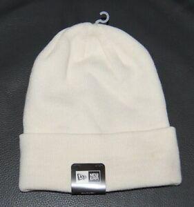 New Era White  Cuff Beanie Hats 56cm