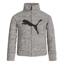 Puma Girl's Full Zip Sweatshirt Grey Heather US Size S 7 NWT