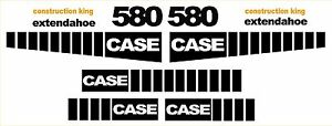 New Case 580 Loader Backhoe construction king decal sticker set decals