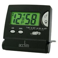 Bentima By Acctim Travel Alarm Clock Black Folding Case Digital