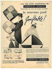 PUBLICITE ADVERTISING  1960   CORDOUAL SOBRAL   pouf gonflable
