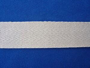 Baumwollgurt 40 mm breit, 5 m lang, natur Gurtband Baumwolle Taschengurt  Gurt