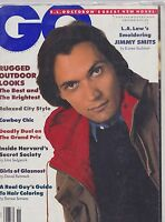 NOV 1988 GQ - GENTLEMANS QUARTERLY fashion magazine JIMMY SMITS - LA LAW