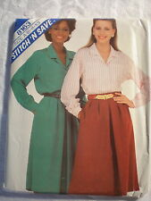 "McCall's Women's Blouse Skirt Pat #8163 Size A (6-8-10) ""STITCH'N SAVE"" 1982"