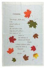 Vintage Tea Bar Towel Kitchen Decor Canada Falling Maple Leaves Lund
