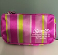 Lo Loestrin Pharmaceutical Purple Stripe Satin Cosmetic Bag Birth Control Pill