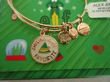 Alex and Ani ELF, SMILING IS MY FAVORITE Shiny Rose Bangle New W/Tag Card & Box