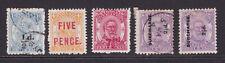 Tonga. 1893-94. Surcharges selection.