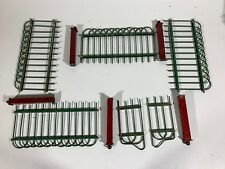 Vintage Red and Green Tin Wire Putz-style Feather Tree Fence Set with Gate