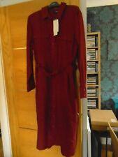 NEW Next size 18 ...dark rust red shirt dress...rp £ 45