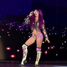 BEAUTIFUL WWE DIVA SASHA BANKS  8X10 PHOTO W/BORDERS W/ COA  ECW